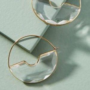 Anthropologie Temperance Hoop Crescent Earrings